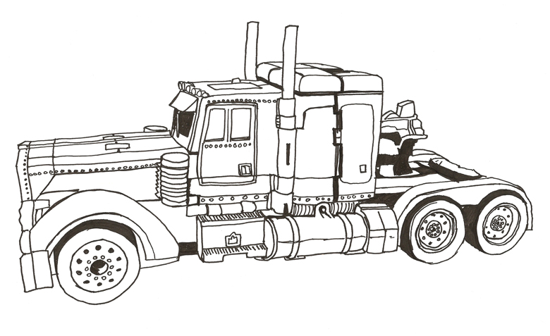 tractor trailer coloring pages - coloring pages for kids tractor trailer coloring best